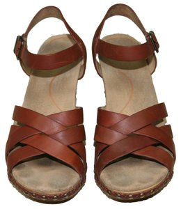 Dansko Wedge Heel Comfort Clog Size 40 Brown Sandals