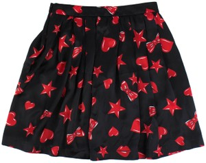 Moschino Mini Skirt Black/Red