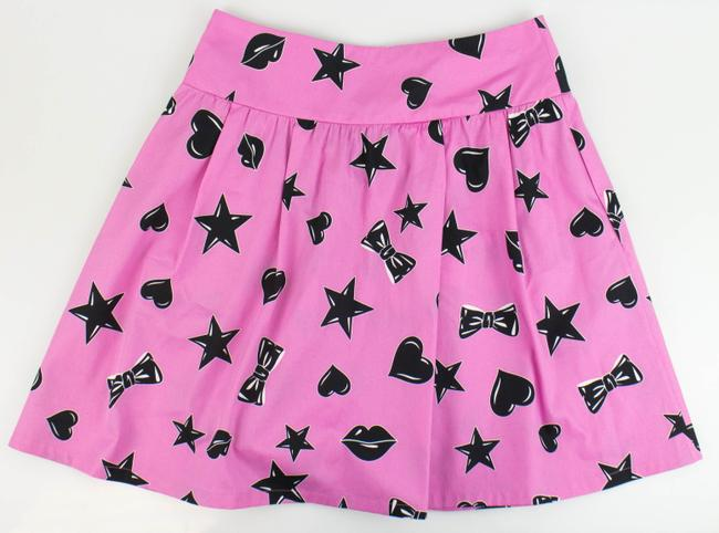 Moschino Mini Skirt Pink/Black Image 1