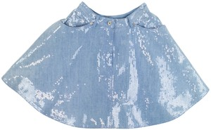 Moschino Mini Skirt Blue Denim