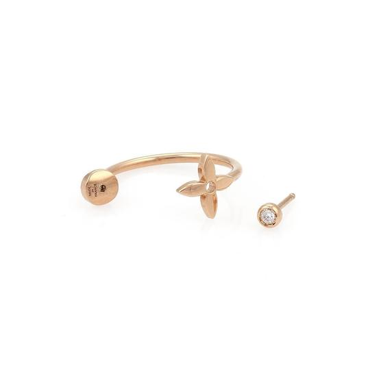 Louis Vuitton Idylle Blossom Small Diamond ONE Hoop 18k Pink Gold Earring Image 1