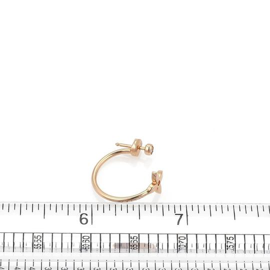 Louis Vuitton Idylle Blossom Small Diamond ONE Hoop 18k Pink Gold Earring Image 2