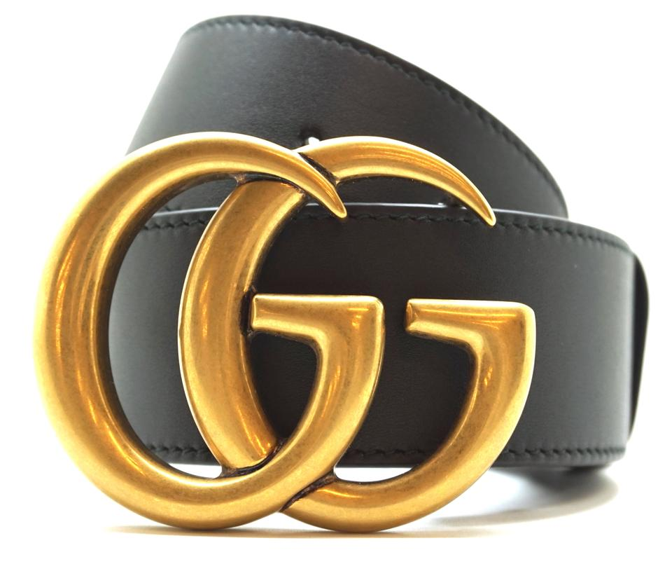 928d1a4ab Gucci RARE GG Marmont logo gold buckle leather Belt Size 70 28 Image 0 ...