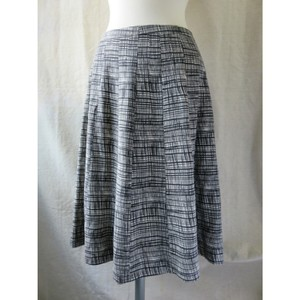 Pure Collection Skirt Charcoal Gray and White