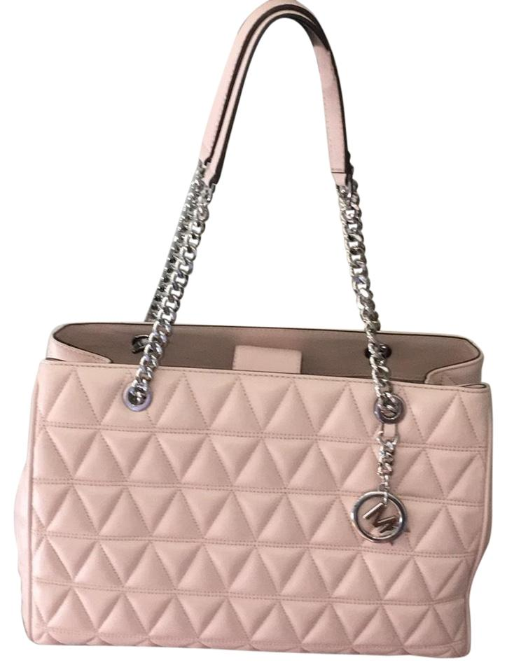 7b22145218f0 Michael Kors Blossom Vivianne Pink Lambskin Leather Tote - Tradesy