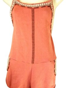 Free People Romper Shorts Boyfriend Shorts Jumpsuit Orange Halter Top