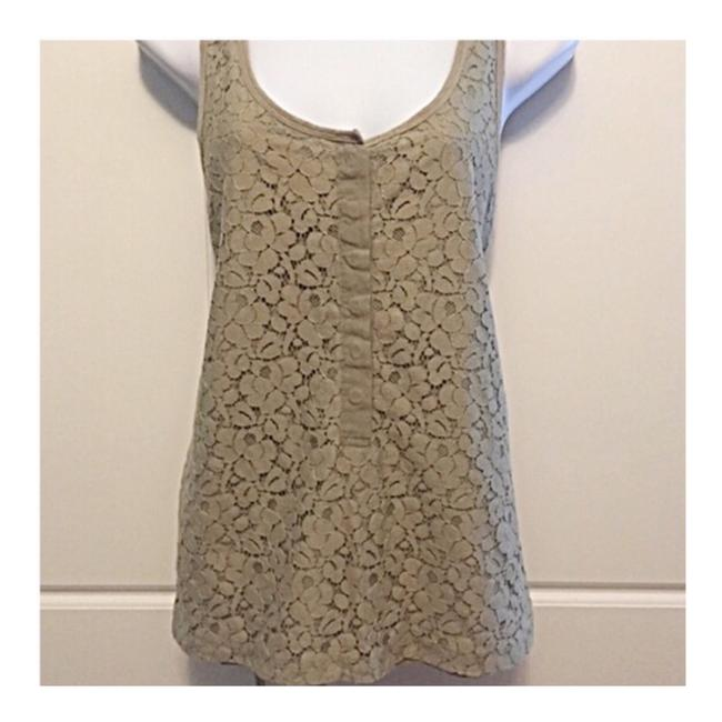 Item - Olive Lace Overlay Tank Top/Cami Size 6 (S)