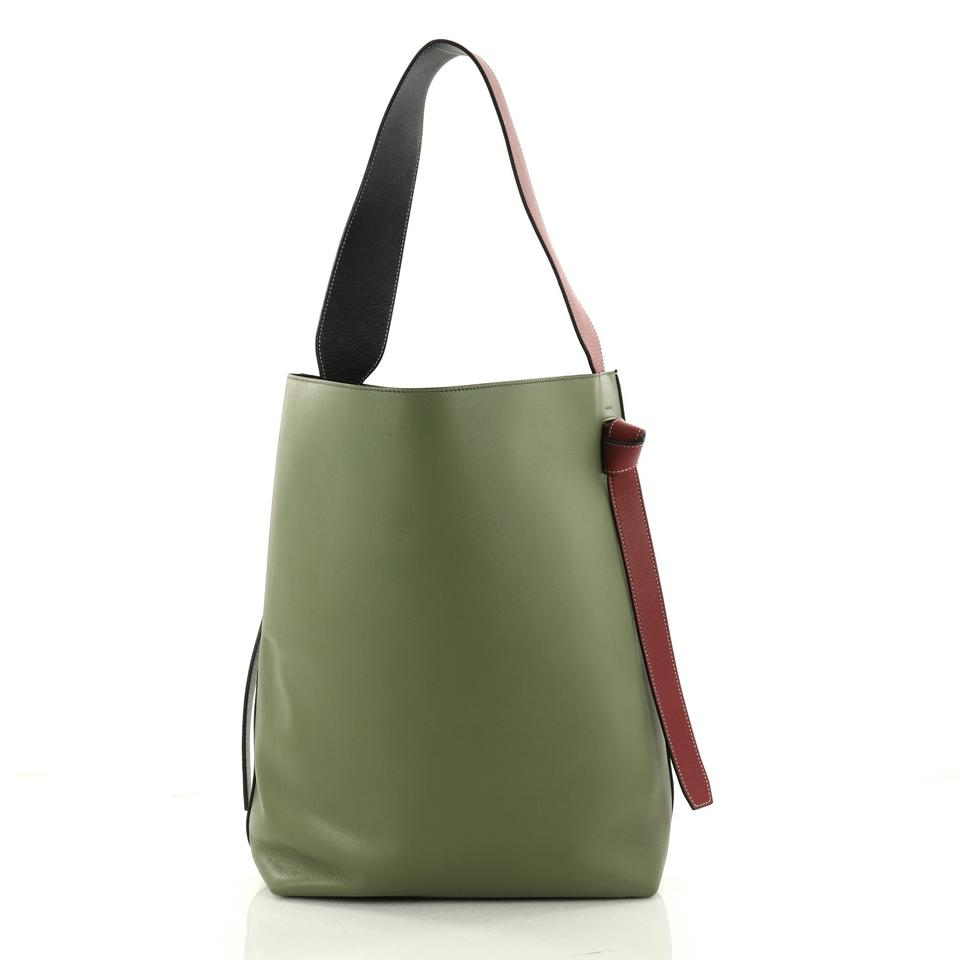 14c4061a8c576a ... Céline Cabas Off Green Small and Calfskin Tote Leather White Twisted  rxwtHqar ...