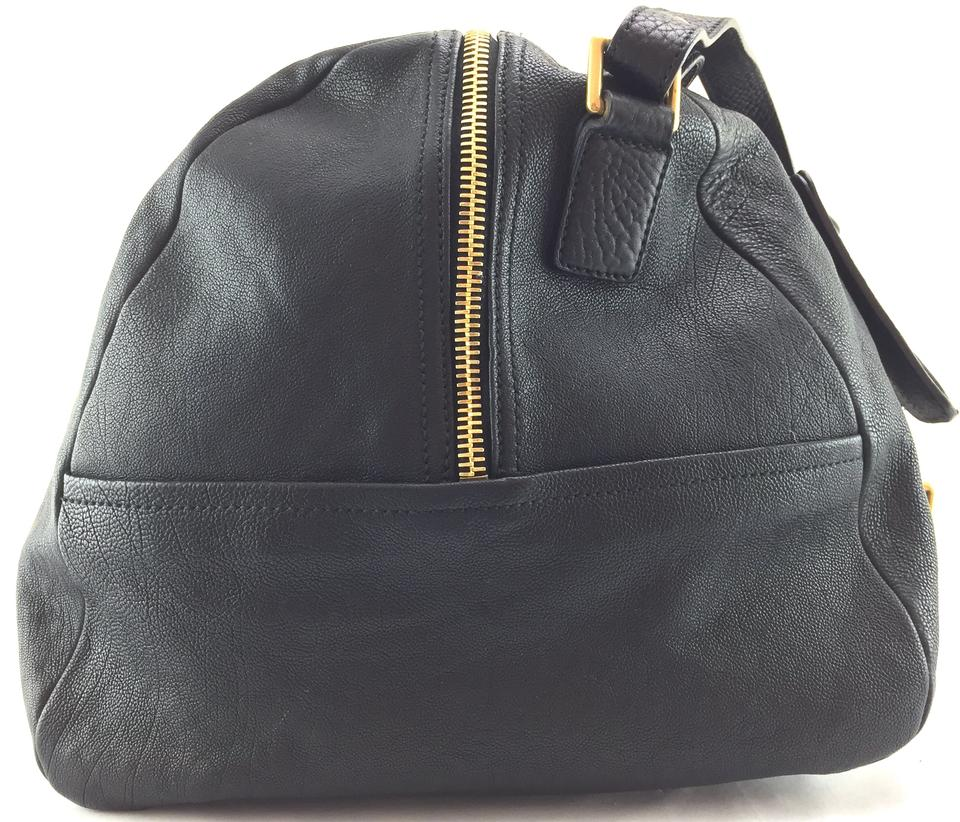 978a289df8 ... Laurent Ysl Strapped Leather Rare Extremely Logo Shoulder Bag Saint  Travel Duffle 20689 Black Duffel Vavin ...