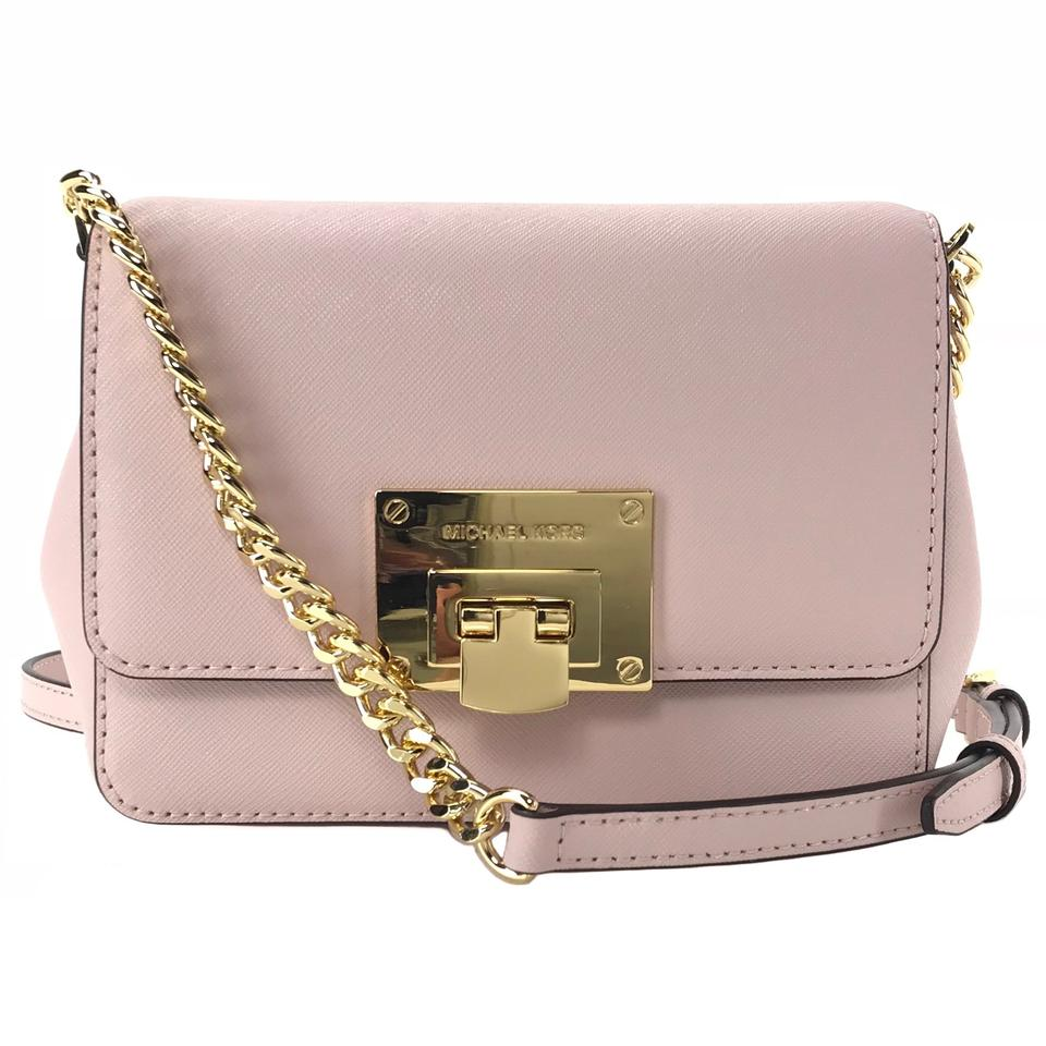 0fd81a83861e67 Michael Kors Tina Small Clutch with Shoulder Strap Pink Leather ...