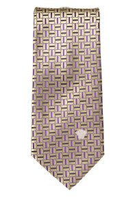 Versace Versace men's gold and purple silk geometric print tie NWOT