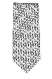Gucci Gucci men's white and grey silk circle print tie NWOT