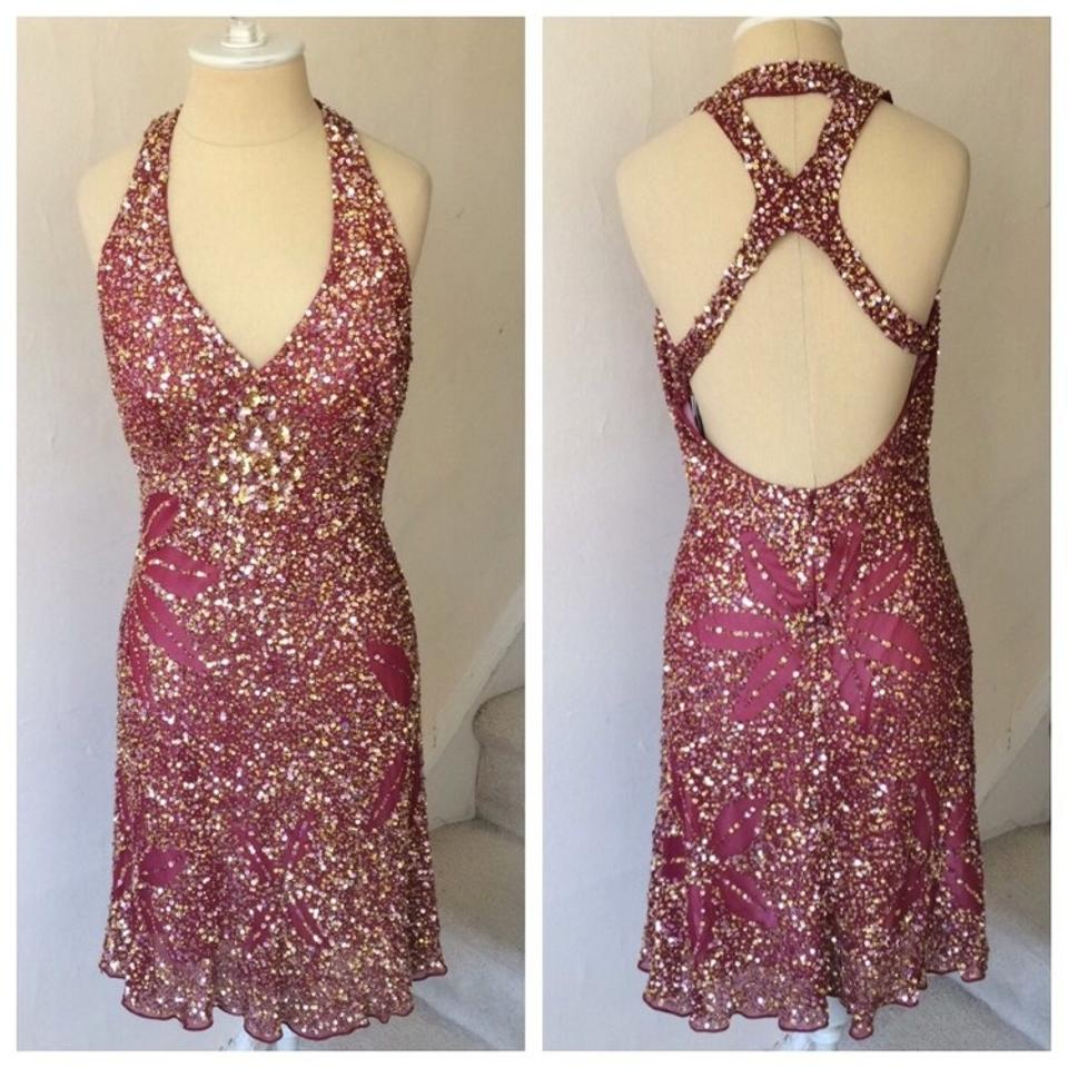 Wine and Gold Cocktail Dresses