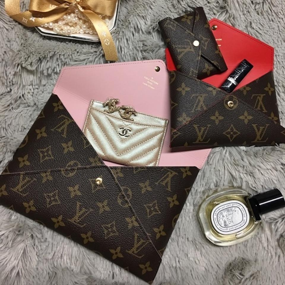 97194db4f361 Louis Vuitton New 3 Pc Set Pouch Box Monogram Pink Red Lv Coated ...