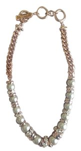 Givenchy Givenchy Rose Gold Faux Pearl & Crystal Necklace