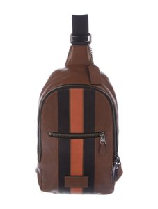 Coach Leather Stripe Backpack