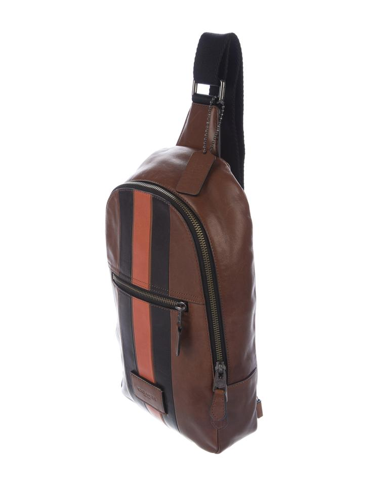 e76995ca2032 Coach Campus With Varsity Stripe Brown Leather Backpack - Tradesy