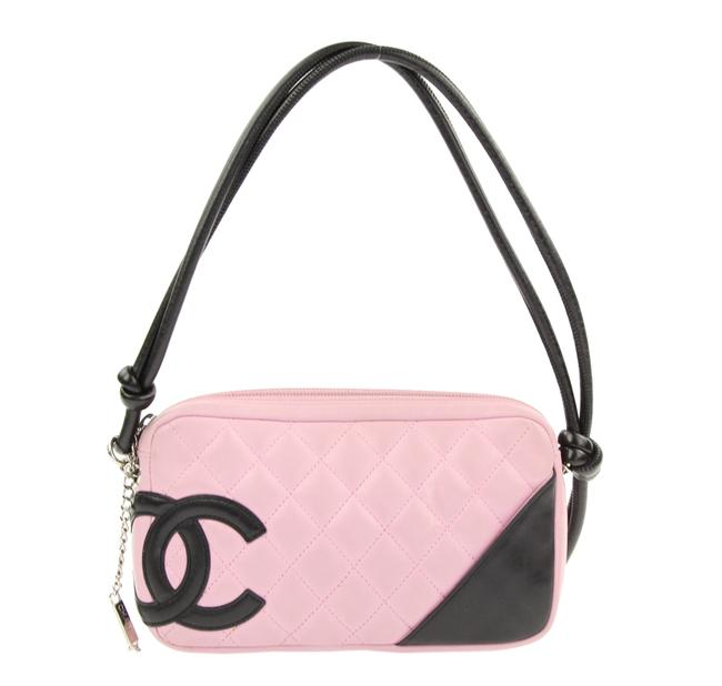 Item - Cambon Quilted Pochette Pink Leather Baguette