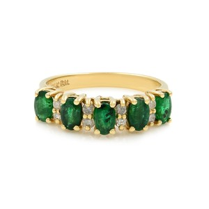 Gavriel's Jewelry Emerald And Diamond Ring Size 6.5