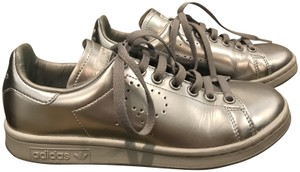 adidas by Raf Simons Stan Smith Sneakers Metallic Perforated Logo Silver Athletic
