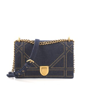 Dior Christian Denim Shoulder Bag