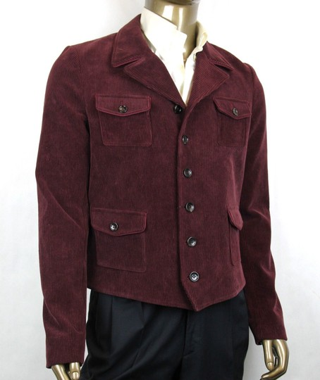 Gucci Violet/Dark Purple Crinkle Corduroy Jacket 6 Buttons It 52r/Us 42r 405272 517 Groomsman Gift