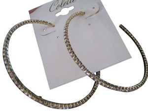Colette 2 inch Gold Hoops with Swarvoski Crystals