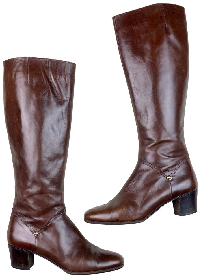 Salvatore Brown Ferragamo Brown Salvatore Tall Heeled Riding Boots/Booties a6bb93