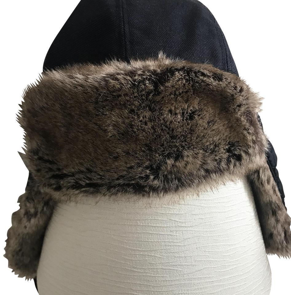 Banana Republic Navy Faux Fur Lined Quilted Trapper Hat - Tradesy 8c03e0e99e4