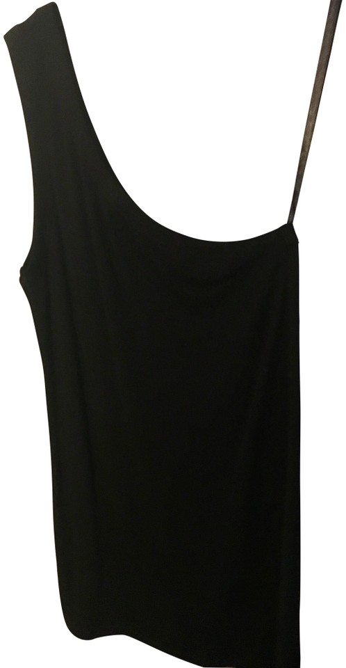 9295ddd9ae8 CAbi One Shoulder Tank Black Top - Tradesy