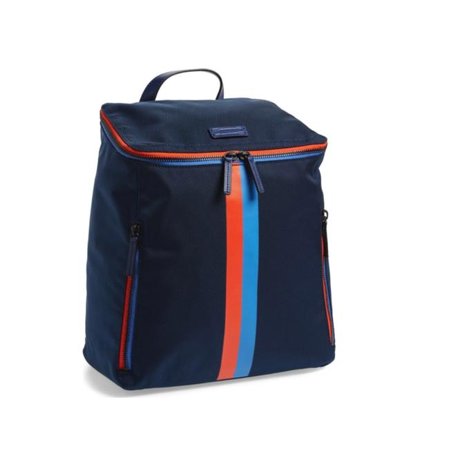 Item - Dad Navy Leather Backpack