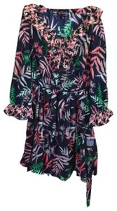 The Webster at Target short dress Mult-colored Tropical Print Long Sleeves Ruffles Belted on Tradesy