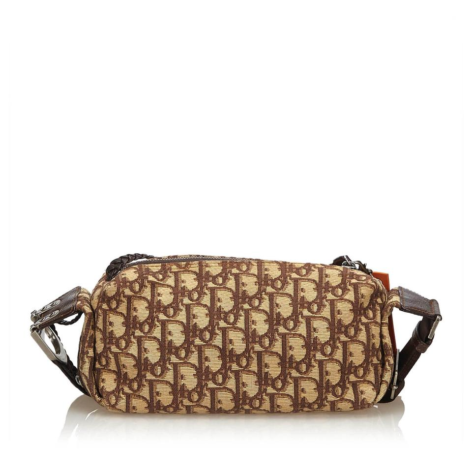 a79d055e0f01 Dior Oblique Flight Brown Fabric X Jacquard X Leather X Others ...