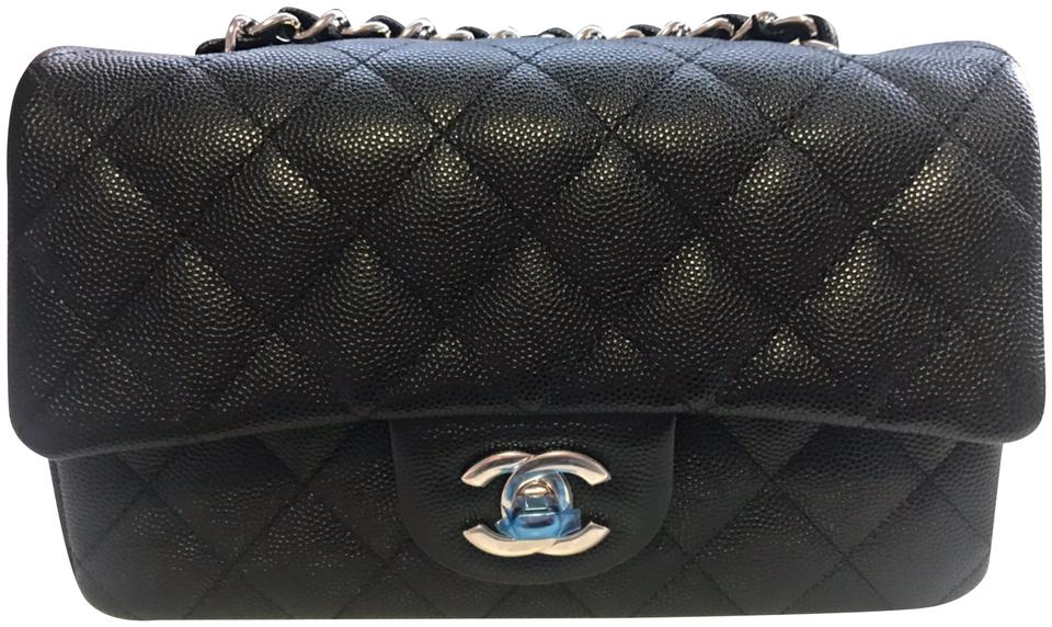 Chanel Classic Flap 18b Quilted Mini Rectangular Black Caviar ... 410220eff3081