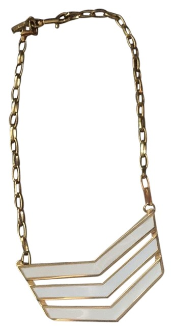Item - White and Gold Plated Necklace