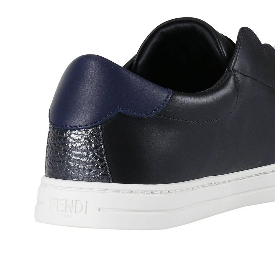 Sneakers New Sneakers Black Leather Logo Rockoko On Women Slip Fendi UAxfnPaf