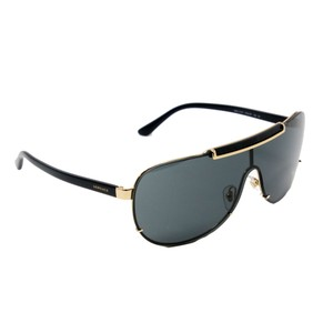 Versace Classic Greek Key Men's Gold Aviator 2140 Men's Sunglasses