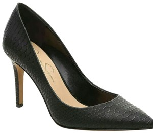 Jessica Simpson Chic Pointed Toe Embossed Black Pumps