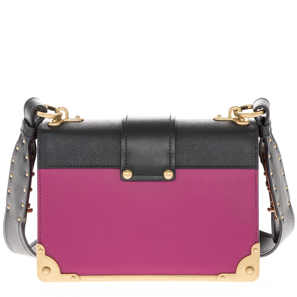 c1d69a34a2f3 Prada Cahier Women's Leather Pink Shoulder Bag - Tradesy