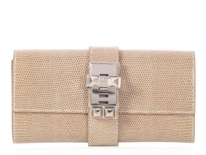 Hermès Beige Palladium Lizard Hr.p0622.03 Reduced Price Tan Clutch
