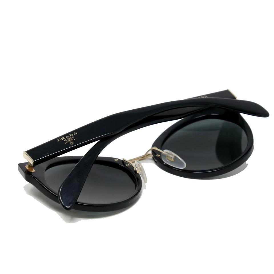 a33334a97d50f Prada Signature Milano Modern Round Frame With Gold Hardware SPR05T Image  9. 12345678910. 1 ∕ 10