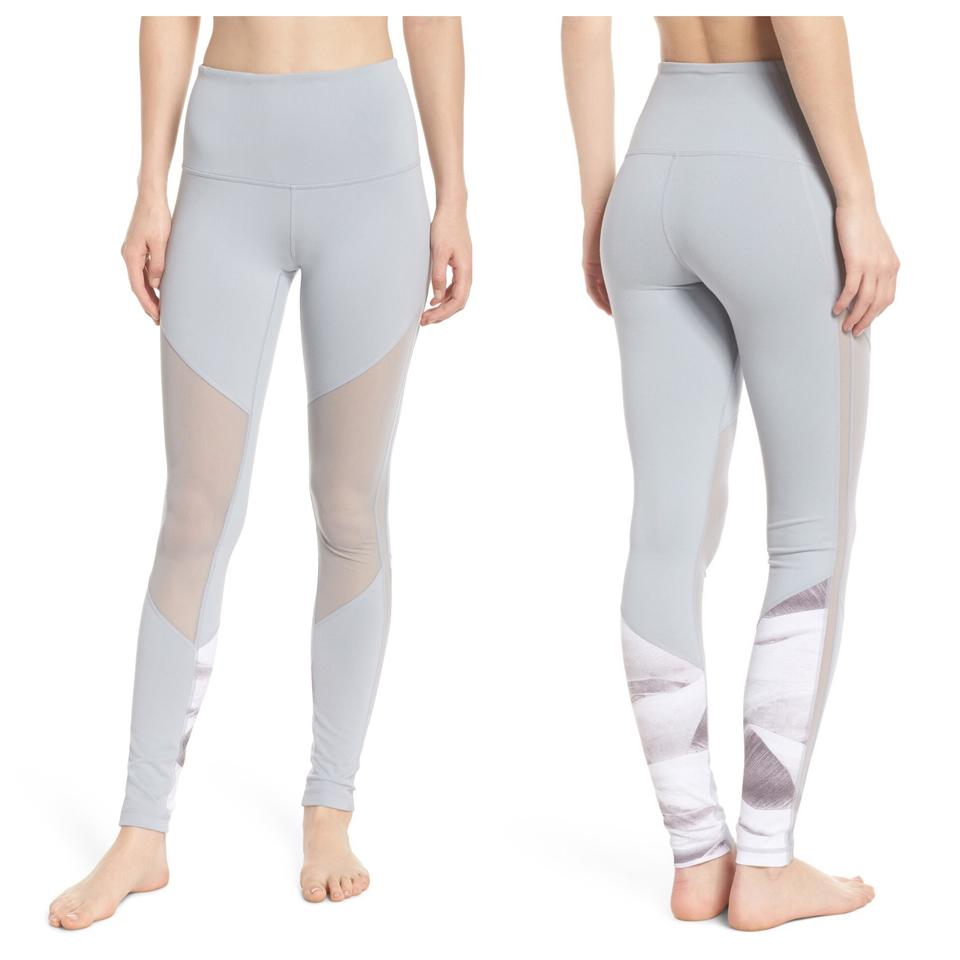 ed7014c5adcd3 Zella Gray Mindful High Waist Yoga Mesh Inset Activewear Bottoms ...