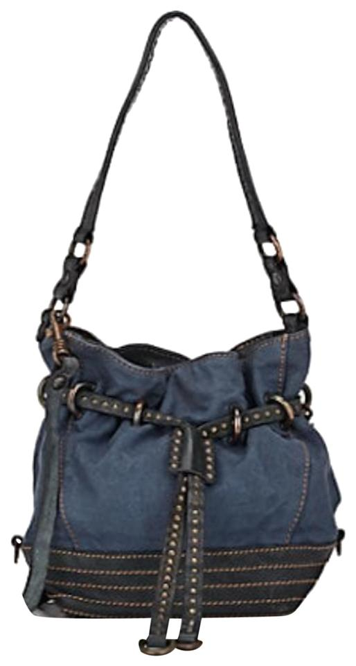 Rabatt modernes Design hochwertiges Design Campomaggi Bucket Blue/Denim/Navy Canvas and Leather Cross Body Bag 36% off  retail