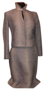 Richard Tyler Couture Fringe Benefit Boucle Skirt Suit
