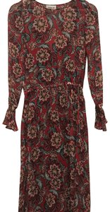 Sam & Lavi short dress red floral on Tradesy