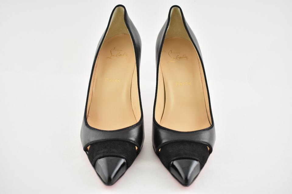 Pumps 85 Heel Stiletto Nappa Patent Biblio Leather Suede Classic Louboutin Christian Black CwZPxFWq