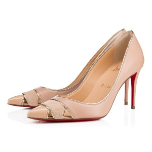 Christian Louboutin Stiletto Pigalle Classic Pointed Toe Biblio nude Pumps