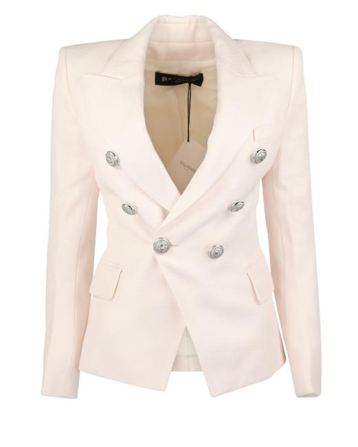 Pink Double Breasted Blazer by Balmain