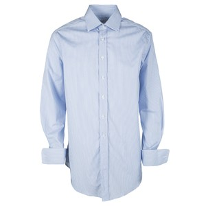Alfred Dunhill Blue and White Striped Peter Business Shirt XL