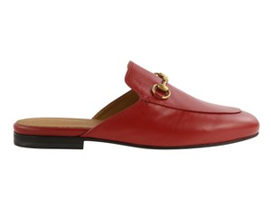 Gucci Leather Gold Hardware Red Mules
